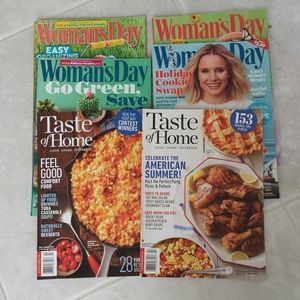4 Woman's Day and 2 Taste of Home magazines